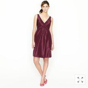 J. Crew Ruthie 100% Silk Taffeta Sleeveless Dress